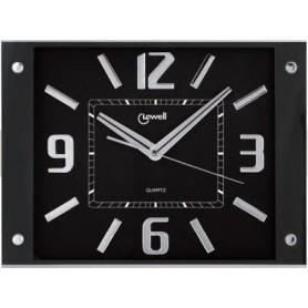 Orologio parete RETTANGOLARE FONDO NERO NUMERI a SPECCHIO 00604N