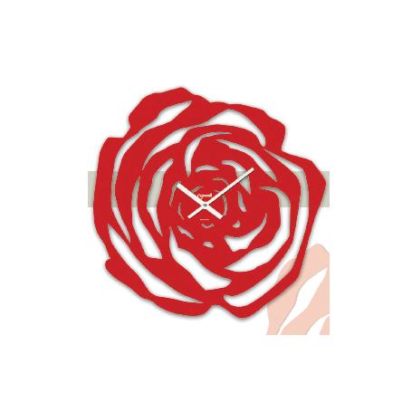 Orologio parete metallo Rosso a forma di Rosa  LOWELL 05755