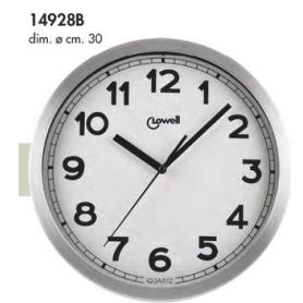 Orologio parete in alluminio satinato diam.cm.30