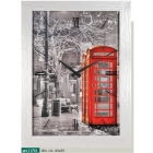 Orologio parete-quadro LONDRA-CABINA TELEFONICA ROSSA-LOWELL