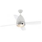 Faro ventilatore da soffitto design con luce bianco 4 pale trasparenti FARETTO
