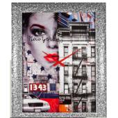 Orologio da parete NEW YORK con VOLTO di DONNA cornice BRILLANTINI - LOWELL
