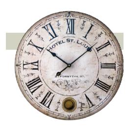 Orologio parete stile Liberty diam cm 47.5 - LOWELL