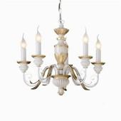LAMPADARIO SOSPENSIONE FIRENZE 5L IDEALUX completo di lampadine LED