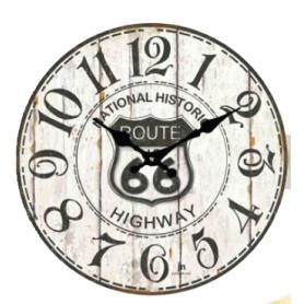 OROLOGIO DA PARETE ROUTE 66 diametro cm 33