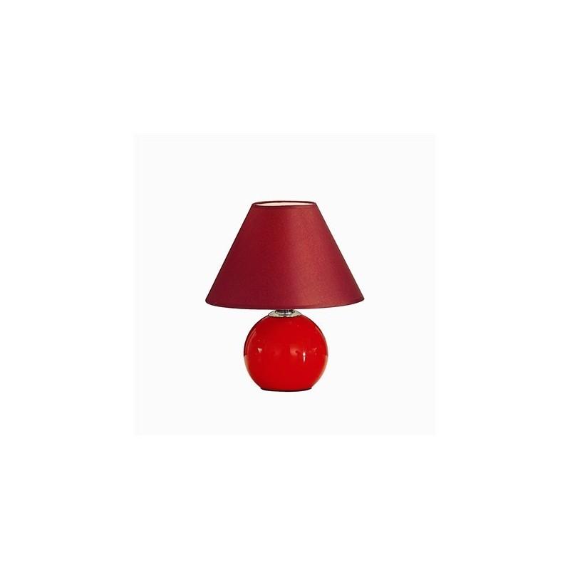 Lampada da tavolo nera o rossa con paralume in tessuto nero - Ideal lux lampade da tavolo ...