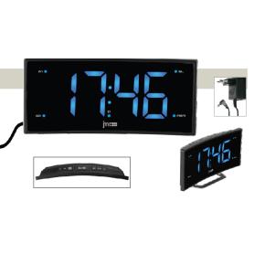 Radiosveglia elettrica con  numeri blu schermo arcuato