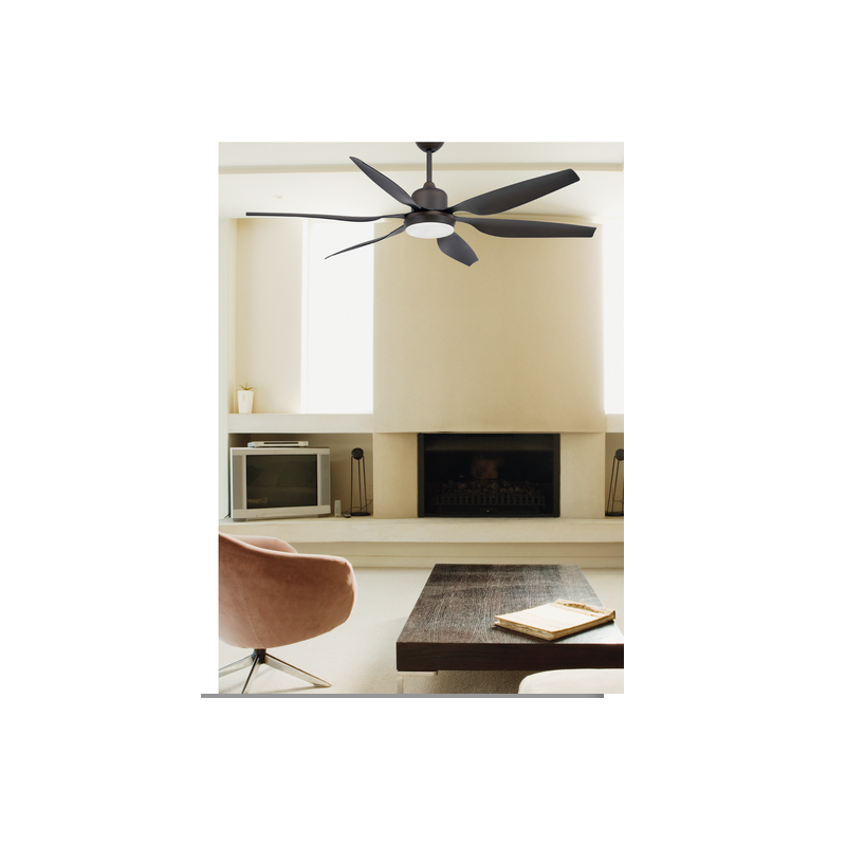 Ventilatore da soffitto con luce marrone 6 pale faro tilos for Ventilatore da soffitto silenzioso
