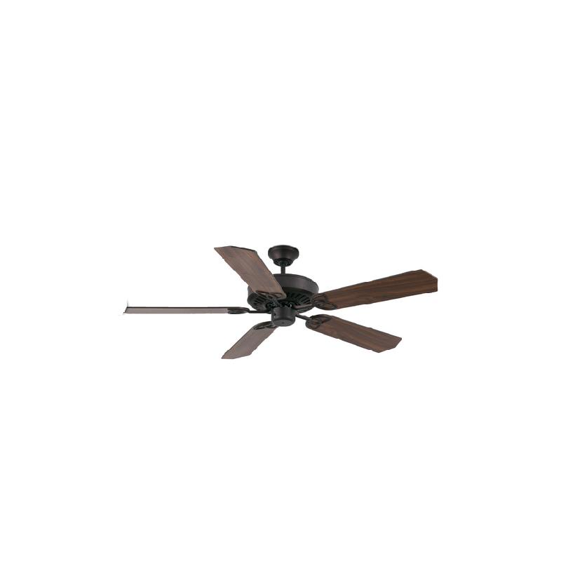 Ventilatore da soffitto marrone senza luce stile coloniale for Ventilatore con telecomando