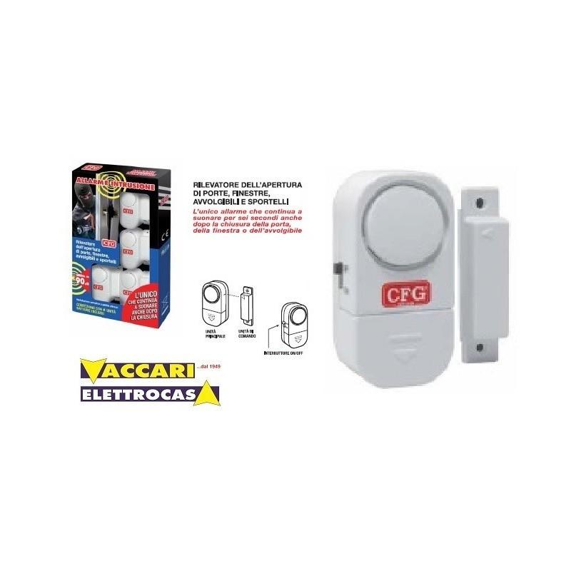 ALLARME APERTURA PORTE e FINESTRE a batteria apparecchio anti intrusione CFG