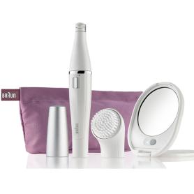 Mini epilatore per il viso e spazzola di pulizia BRAUN