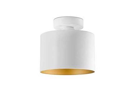 Plafoniera Fiori Bianca : Plafoniera da soffitto oro e bianca in metallo forma cilindro janet