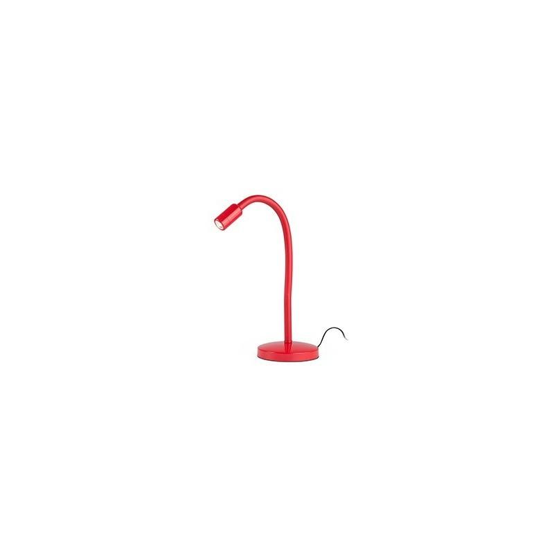 Lampada da tavolo rossa per studio ufficio nuka led faro for Tavolo da studio