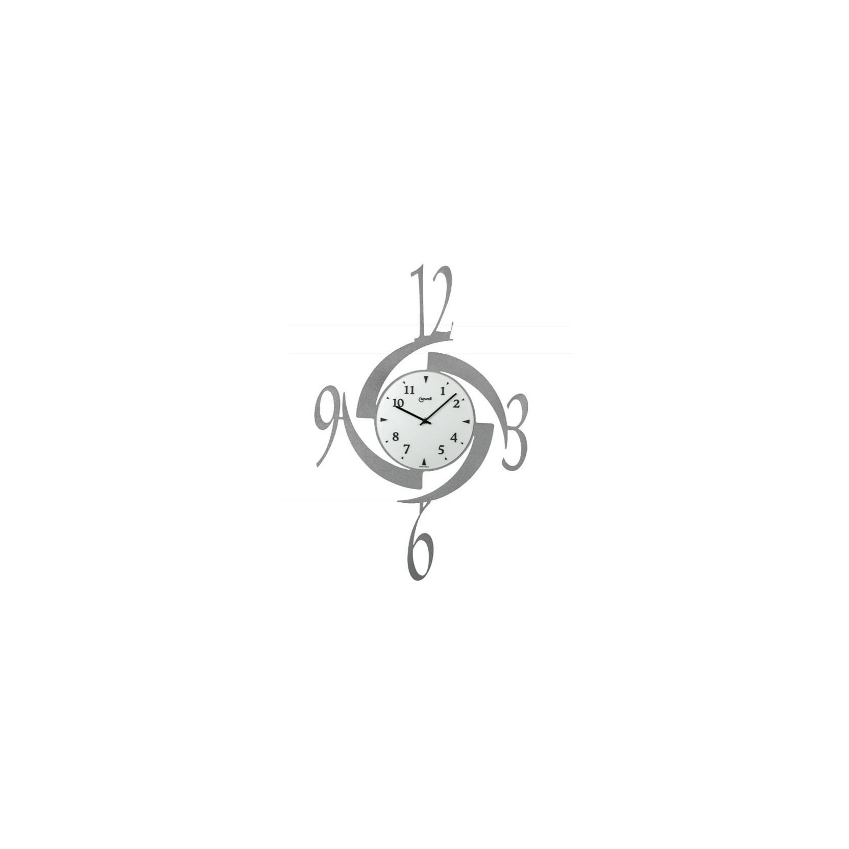 orologio da parete muro moderno tondo in metallo grigio