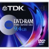 DVD-RAM TDK DOUBLE-SIDE 9.4GB rewritable