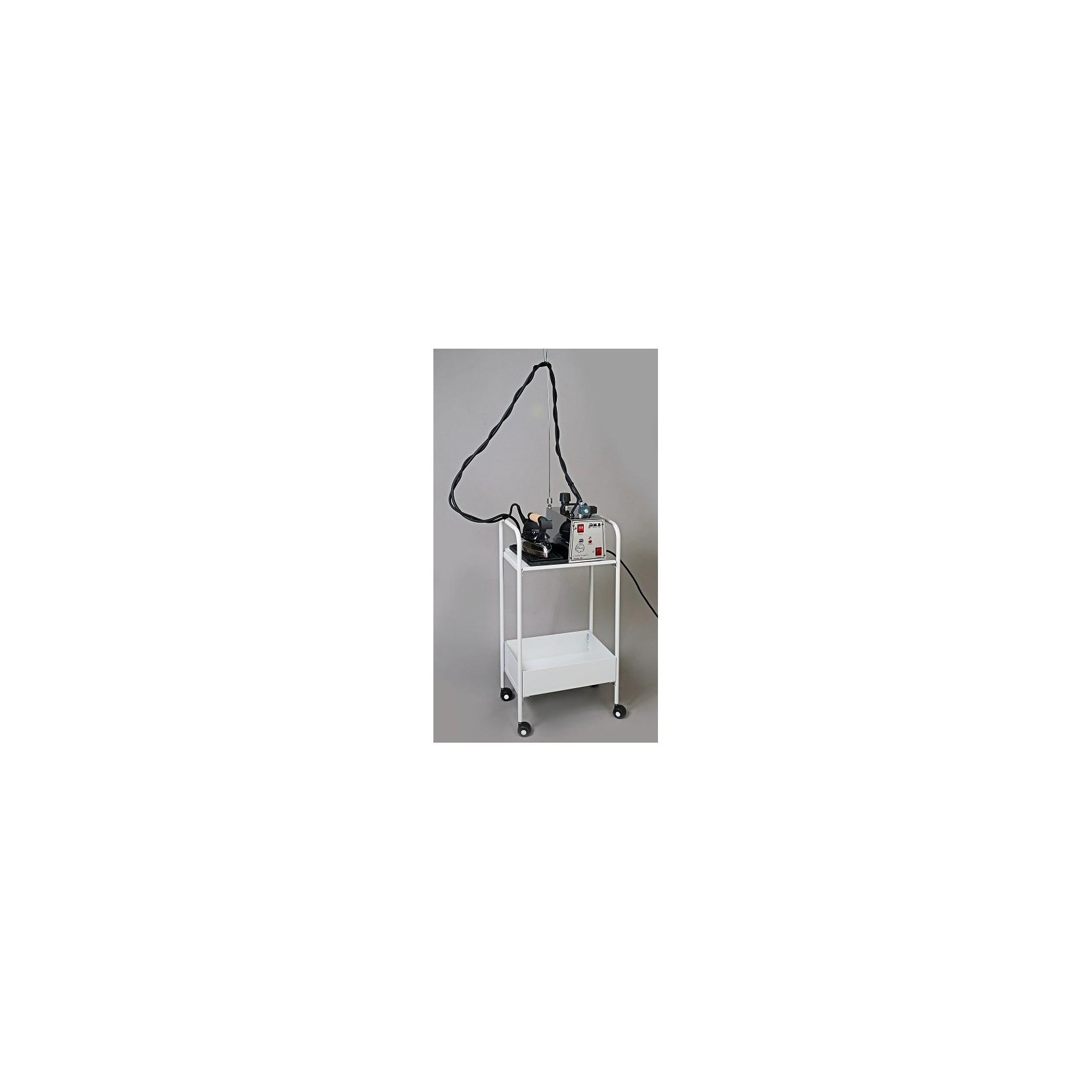 Carrello porta caldaia per stirelle con ruote e ripiano for Carrello porta ombrellone e sdraio