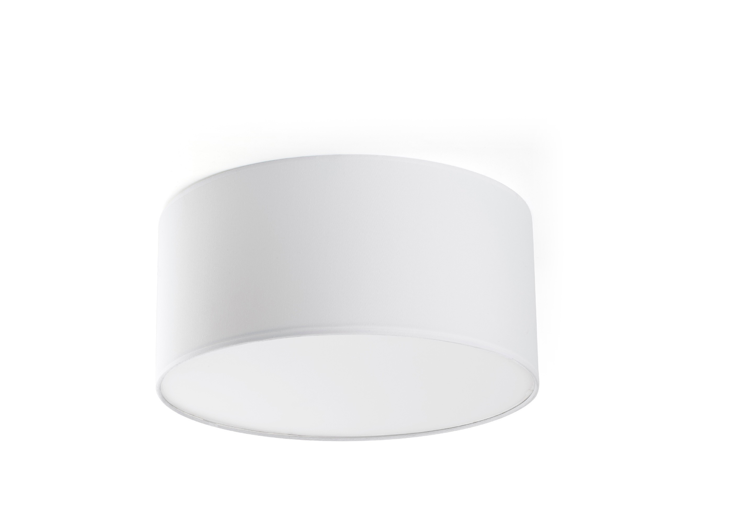 Plafoniere Moderne In Tessuto : Lampada da soffitto a cilindro bianco faro seven plafon