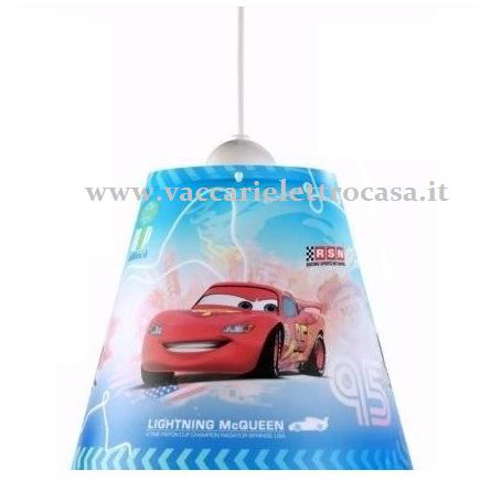 """LAMPADARIO sospensione per cameretta bimbi  """"Cars"""" DISNEY"""