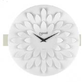 Orologio da parete BIANCO moderno lancette nere petali nel quadrante diametro cm 45
