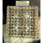 Plafoniera quadrata con Cristalli molati e montatura color ORO ADMIRAL ORO PL4