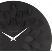 Orologio da parete nero moderno lancette bianche petali quadrante diametro cm 45