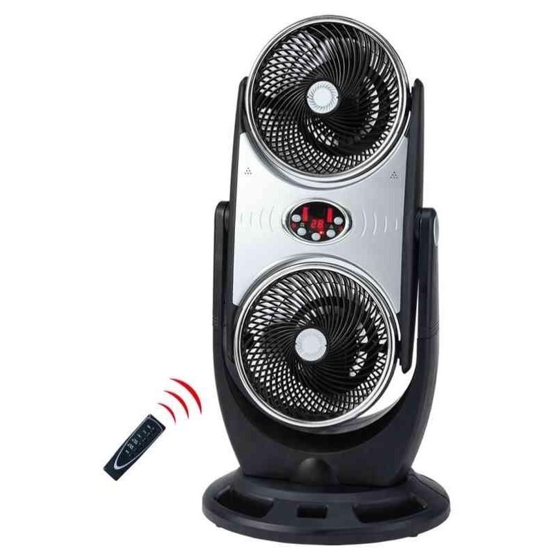 ventilatore cfg duo da appoggio doppia azione con turbina ciclonica e ionizzatore d'aria