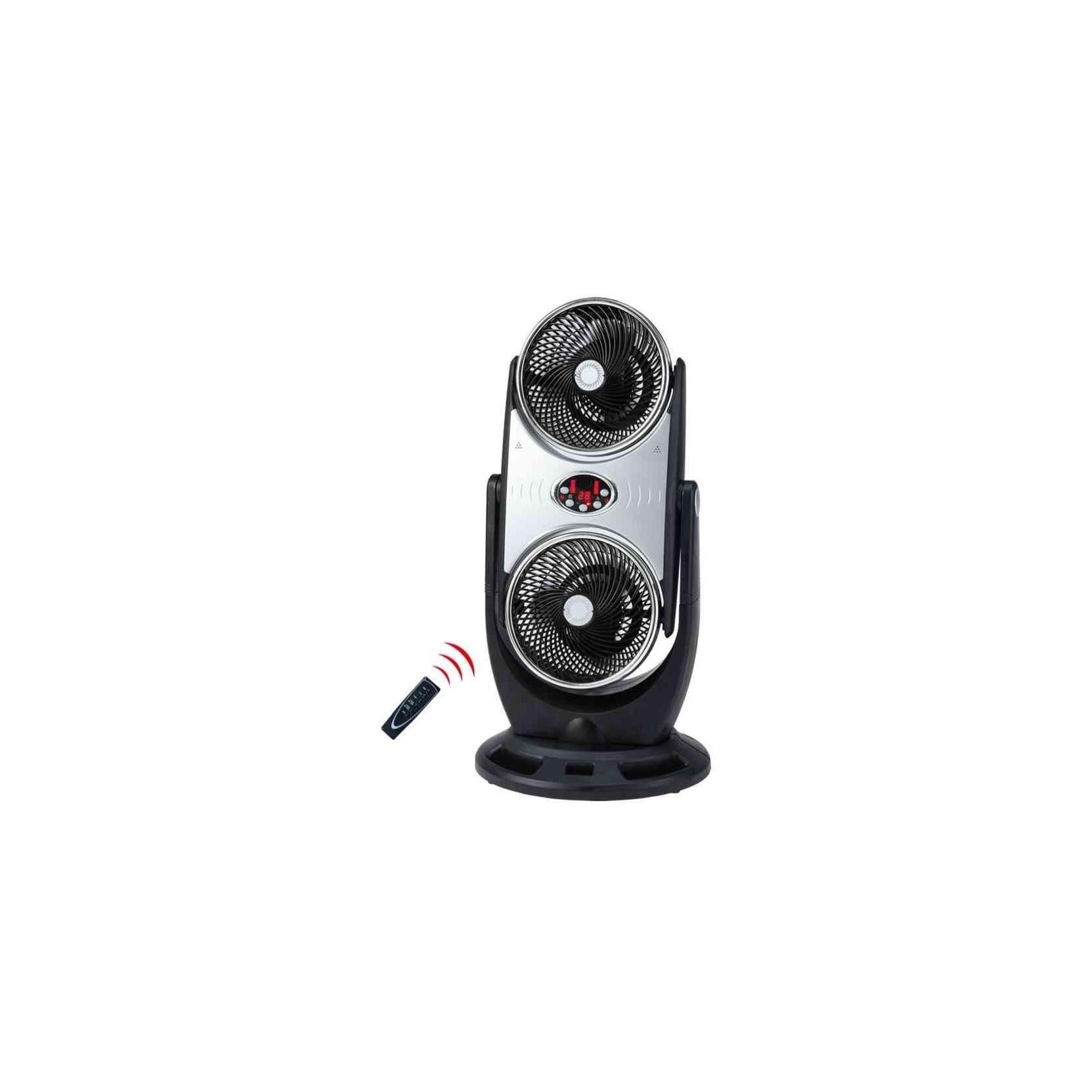 Ventilatore cfg duo da appoggio doppia azione con turbina for Ventilatore con telecomando