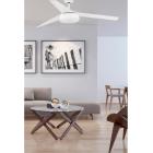 FARO ventilatore soffitto bianco moderno  3 pale con luce LED motore DC basso consumo VULCANO FARO