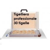 TIGELLIERA PROFESSIONALE ELETTRICA con PIETRA REFRATTARIA PER 30 TIGELLE