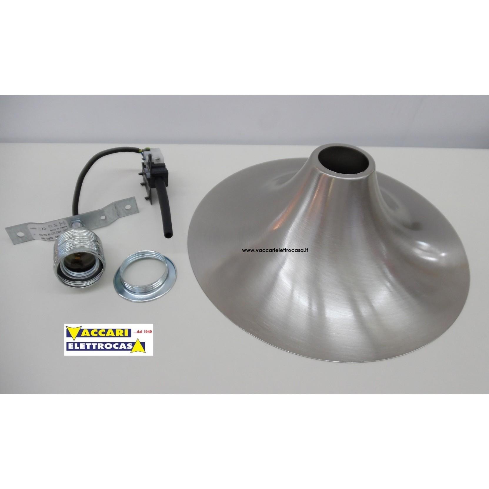 Plafoniera da soffitto in metallo con lampada a vista - Plafoniere da cucina ...