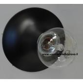 PLAFONIERA PIRAMIDE PICCOLA CONO INOX/BIANCO/SATINATO con lampada a vista