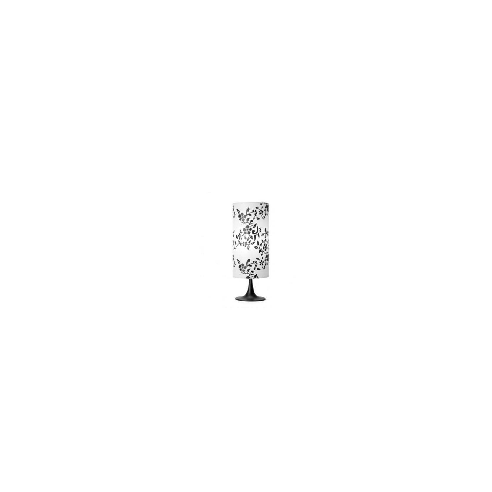 Lampada da tavolo con paralume bianco e fiori neri LYS 1 FARO DECO 29969