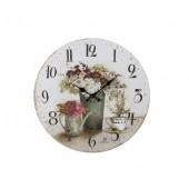 Orologio parete con stampa di vasi di fiori antichi 21454 justminute