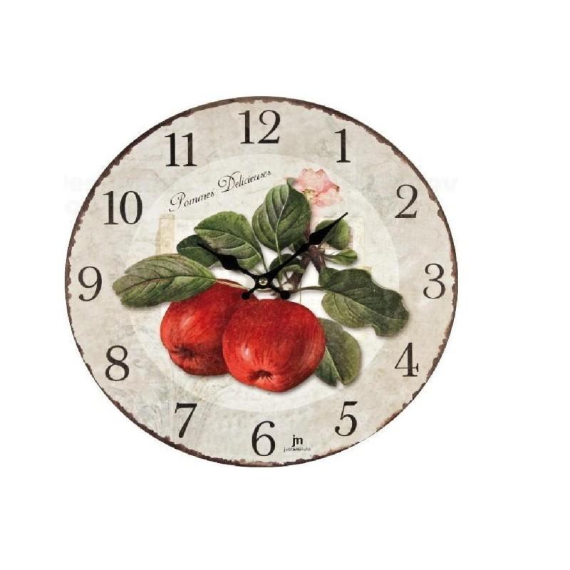 Orologio muro con stampa MELE ROSSE, ARANCIE, PERE