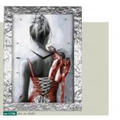 Orologio da parete disegno danzatrice di schiena cornice modellata in resina effetto argento liquido