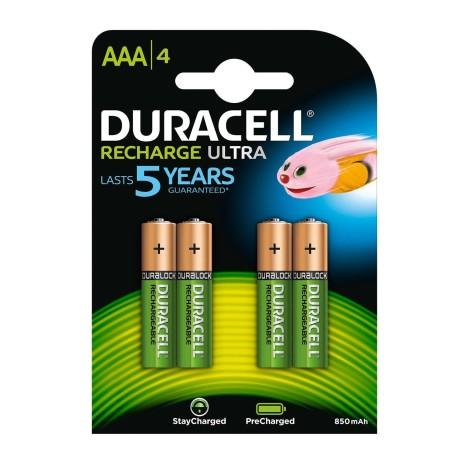 Batterie DURACELL RICARICABILI AAA confezione da 4