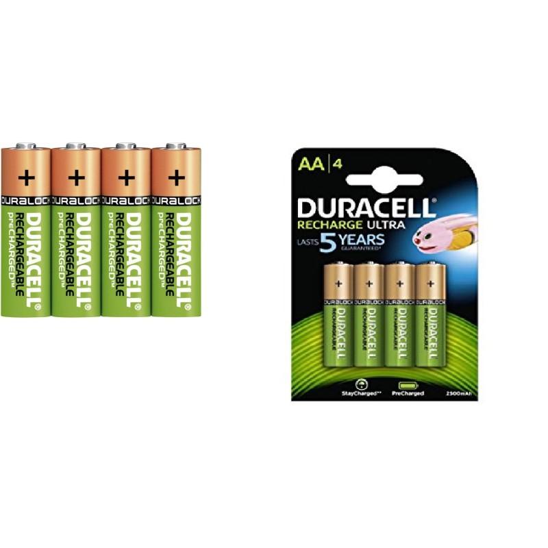 Batterie AA DURACELL RICARICABILI confezione da 4