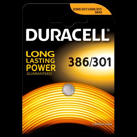 batteria bottone 386/301 DURACELL 1,5 volt