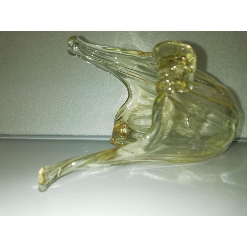 vetro ricambio ambra trasparente lav manuale dim H12,5 diam 11 attacco E14 diam 3