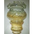 vetro x lampadari ambra molato dim H 18 diam 14 attacco con collo diam 6,5