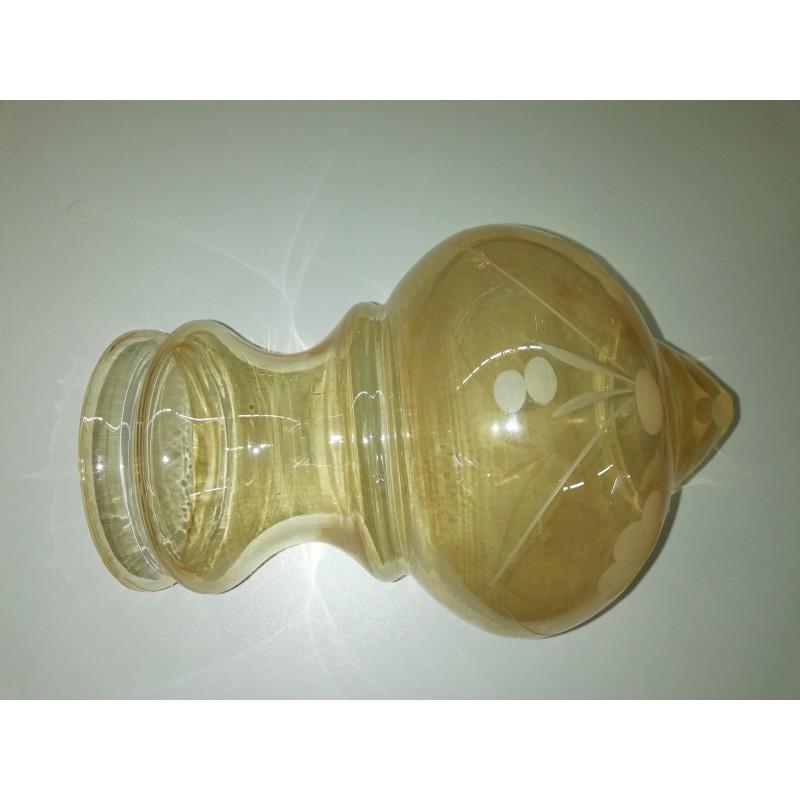 vetro ambra molato dim H 20 diam 413 attacco a collo diam 9.5