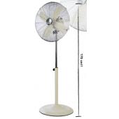 Ventilatore CFG,45 da terra in metallo,colore crema