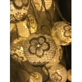Catena 24 LED sfere con pizzo fiorato MT2 LOLLI 28952