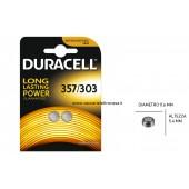 batteria pastiglia 357/303 sr44 conf 2 pz Duracell
