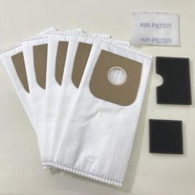Confezione di 5 sacchi di ricambio per scope elettriche SPEEDY, DUST, EMER ELETTROPIU'