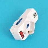 ADATTATORE con SPINA GIREVOLE e PRESA USB