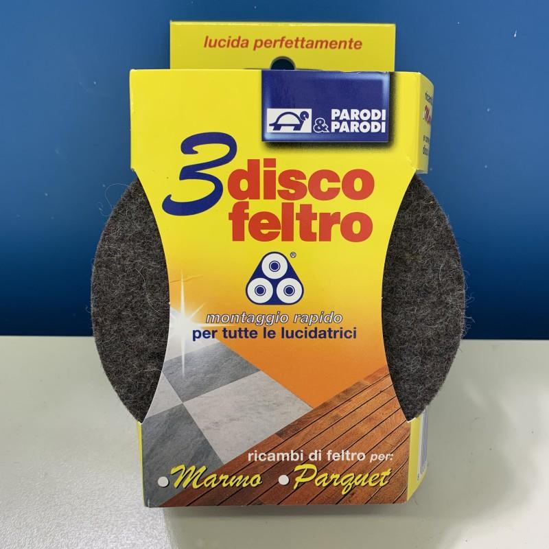 Kit 3 dischi feltro per tutte le lucidatrici a montaggio rapido PARODI & PARODI