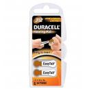 Confezione 6 batterie DURACELL per apparecchi acustici 312
