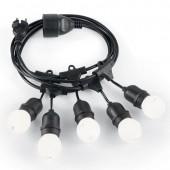 Cordone di lampadine per giardini e terrazzi FIESTA SP5 IDEALLUX PROLUNGABILE