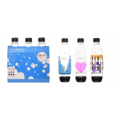 set 3 bottiglie sodastream per spirit, power, source, play ed.limitata